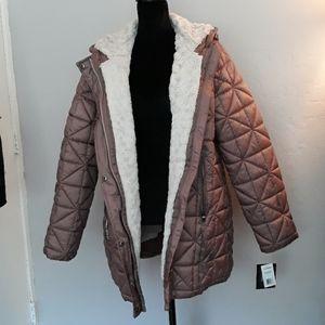 Steve Madden Women's Mid-Length Chevron Coat